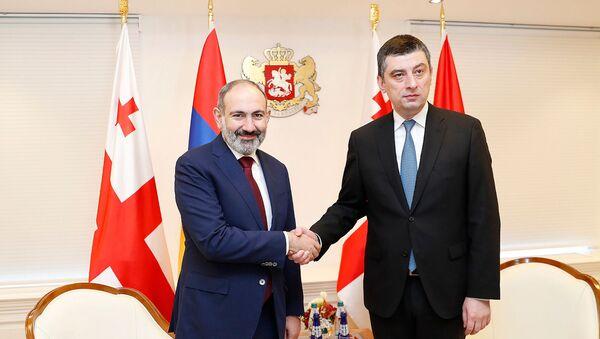 Встреча премьер-министров Армении и Грузии Никола Пашиняна и Георгия Гахария в рамках официального визита в Грузию (3 марта 2020). Тбилиси - Sputnik Արմենիա