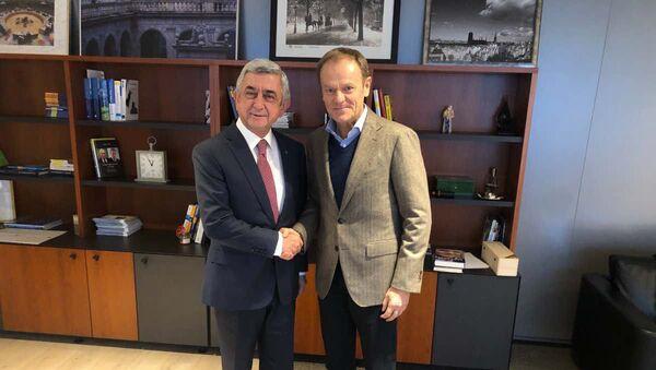 Встреча Сержа Саргсяна с председателем ЕНП Дональдом Туском (5 марта 2020). Брюссель - Sputnik Արմենիա