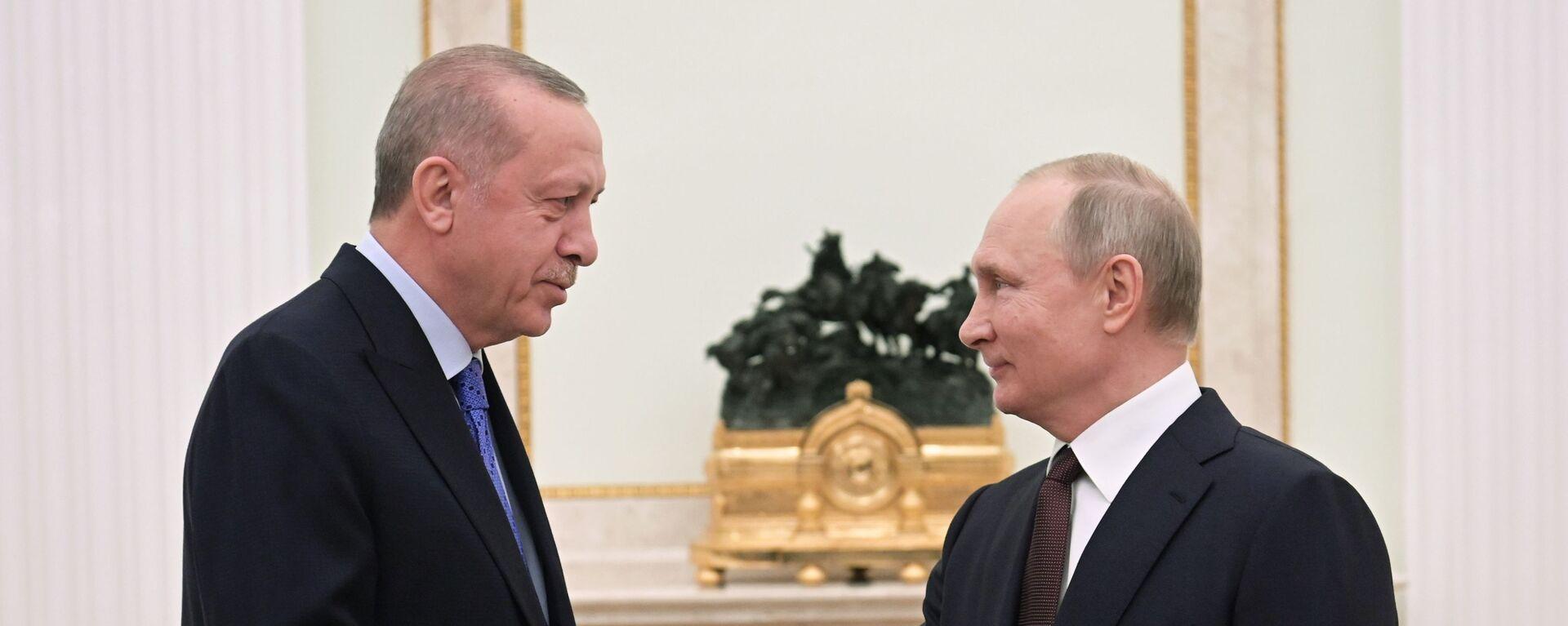 Владимир Путин и Реджеп Тайип Эрдоган  - Sputnik Արմենիա, 1920, 24.09.2021