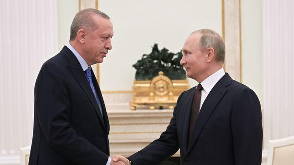 Владимир Путин и Реджеп Тайип Эрдоган  - Sputnik Армения