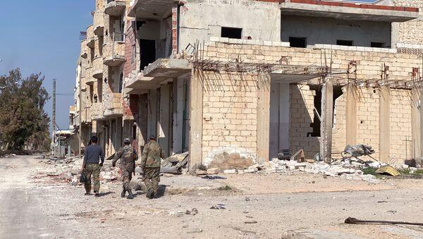 Район освобожденного от боевиков города Серакиб в Сирии - Sputnik Армения