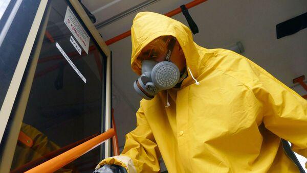 Дезинфекция общественного транспора в связи с угрозой распространения коронавируса в Одессе - Sputnik Արմենիա