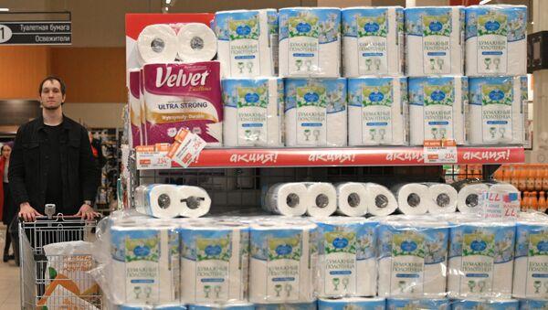 Туалетная бумага в гипермаркете в Москве - Sputnik Армения