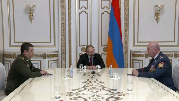 Премьер-министр Никол Пашинян принял глав полиции и СНБ Армении (20 марта 2020). Еревaн - Sputnik Արմենիա