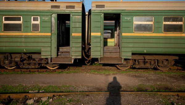 Поезд в ереванском депо ЮКЖД (21 марта 2020). Еревaн - Sputnik Արմենիա
