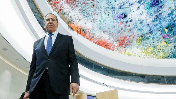 Министр иностранных дел РФ Сергей Лавров на сессии Совета ООН по правам человека - Sputnik Армения