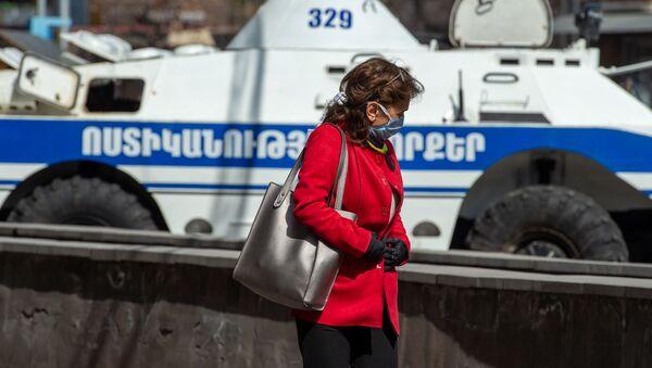 Город во время чрезвычайной ситуации (25 марта 2020). Ереван - Sputnik Армения