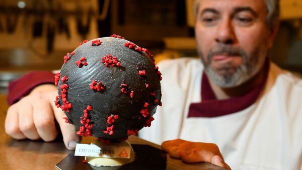 Շոկոլադագործ Ժան Ֆրանսուա Պրեն զատկի ձվի տեսքով տորթ է պատրաստել, որը զարդարել է կորոնավիրուսի մասնիկներով - Sputnik Արմենիա