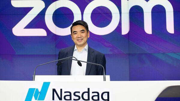 Генеральный директор Zoom Эрик Юань на церемонии открытии Nasdaq (18 апреля 2019). Нью-Йорк - Sputnik Արմենիա