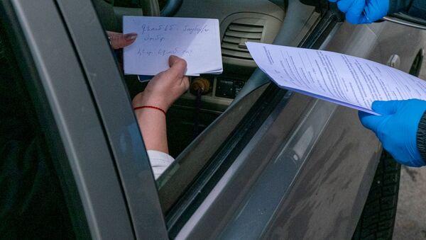 Самодеятельность: женщина предоставила свое видение анкеты передвижения во время ЧП - Sputnik Армения