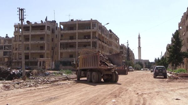 Район Эль-Хамдания на окраине сирийского города Алеппо - Sputnik Армения