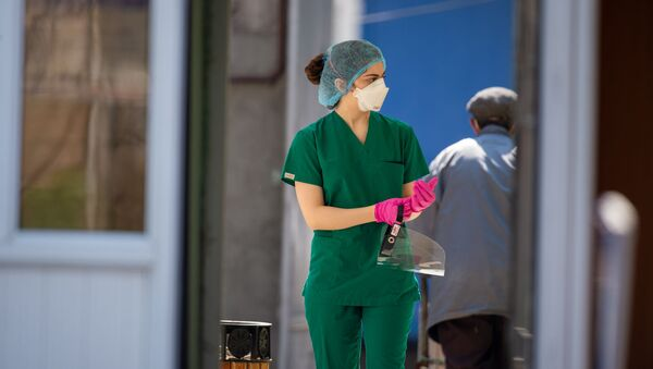 Медицинский персонал инфекционной больницы Норк - Sputnik Արմենիա