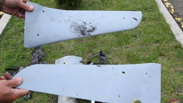 Фотографии обломков беспилотника, сбитого подразделениями ПВО Армии обороны - Sputnik Армения