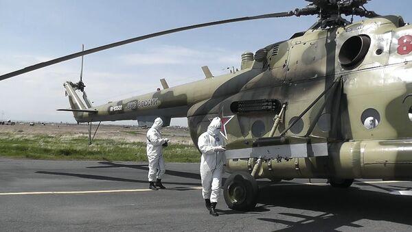 На российской военной авиабазе «Эребуни» произведена  РХБ-разведка техники - Sputnik Армения