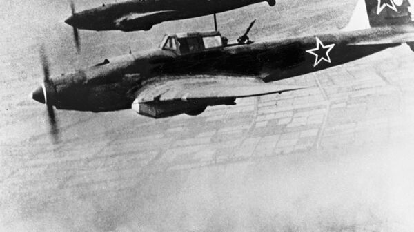 Советские самолеты летят курсом на Берлин, 1945 год - Sputnik Армения