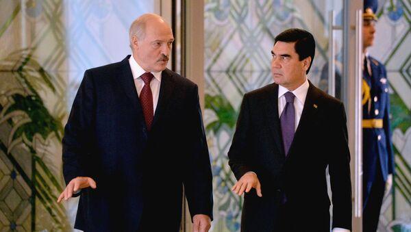 Президент Туркменистана Гурбангулы Бердымухамедов и президент Беларуси Александр Лукашенко - Sputnik Արմենիա