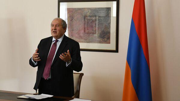 Президент Армении Армен Саркисян (2 мая 2020). Еревaн - Sputnik Արմենիա