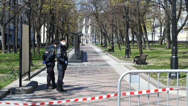 Москва во время режима самоизоляции жителей - Sputnik Արմենիա