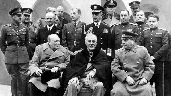 Маршал Сергей Худяков во время Ялтинской конференции союзных держав (4 - 11 февраля 1945). - Sputnik Արմենիա