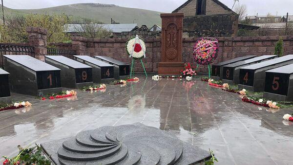 Открытие мемориала ВОВ в селе Джрарат (9 мая 2020). Ширак - Sputnik Армения