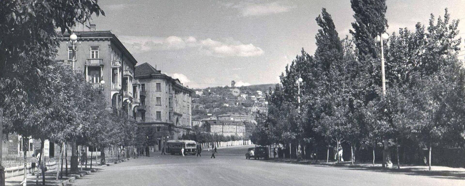 Улица Московян в Ереване (1954 год) - Sputnik Армения, 1920, 12.08.2021