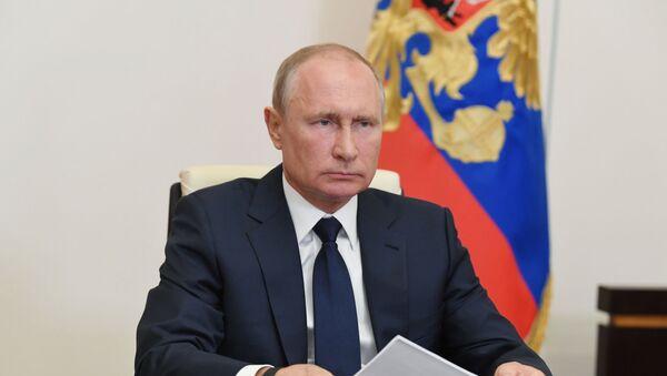 Президент РФ В. Путин провел совещание о ситуации с пандемией коронавируса - Sputnik Армения