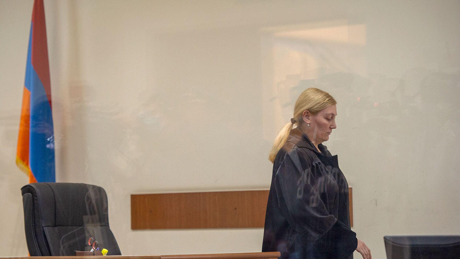 Судья Анна Данибекян на судебном заседании по делу 1 марта (13 мая 2020). Еревaн - Sputnik Армения, 1920, 02.02.2021