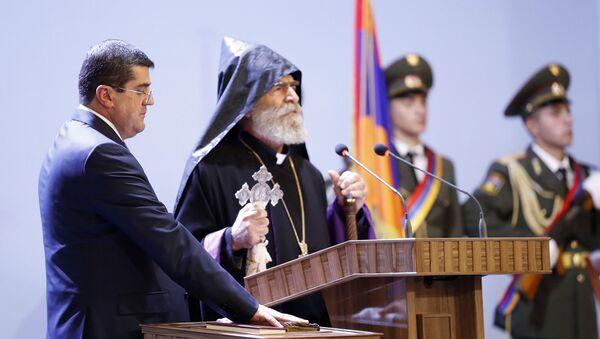 Инаугурация президента Карабаха Араика Арутюняна (21 мая 2020). Шуши - Sputnik Արմենիա