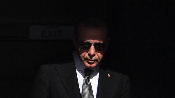 Президент Турции Реджеп Тайип Эрдоган прибывает в аэропорт Кельна (29 сентября 2018). Германия - Sputnik Армения