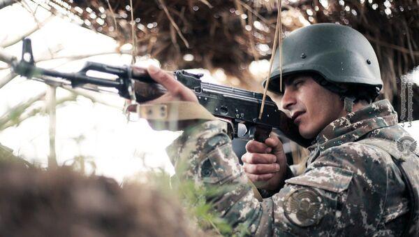 Армянские военннослужащие на боевом посту - Sputnik Արմենիա