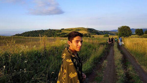 Единственный выпускник села Чинчин Тавушской области Давид Кочарян - Sputnik Армения
