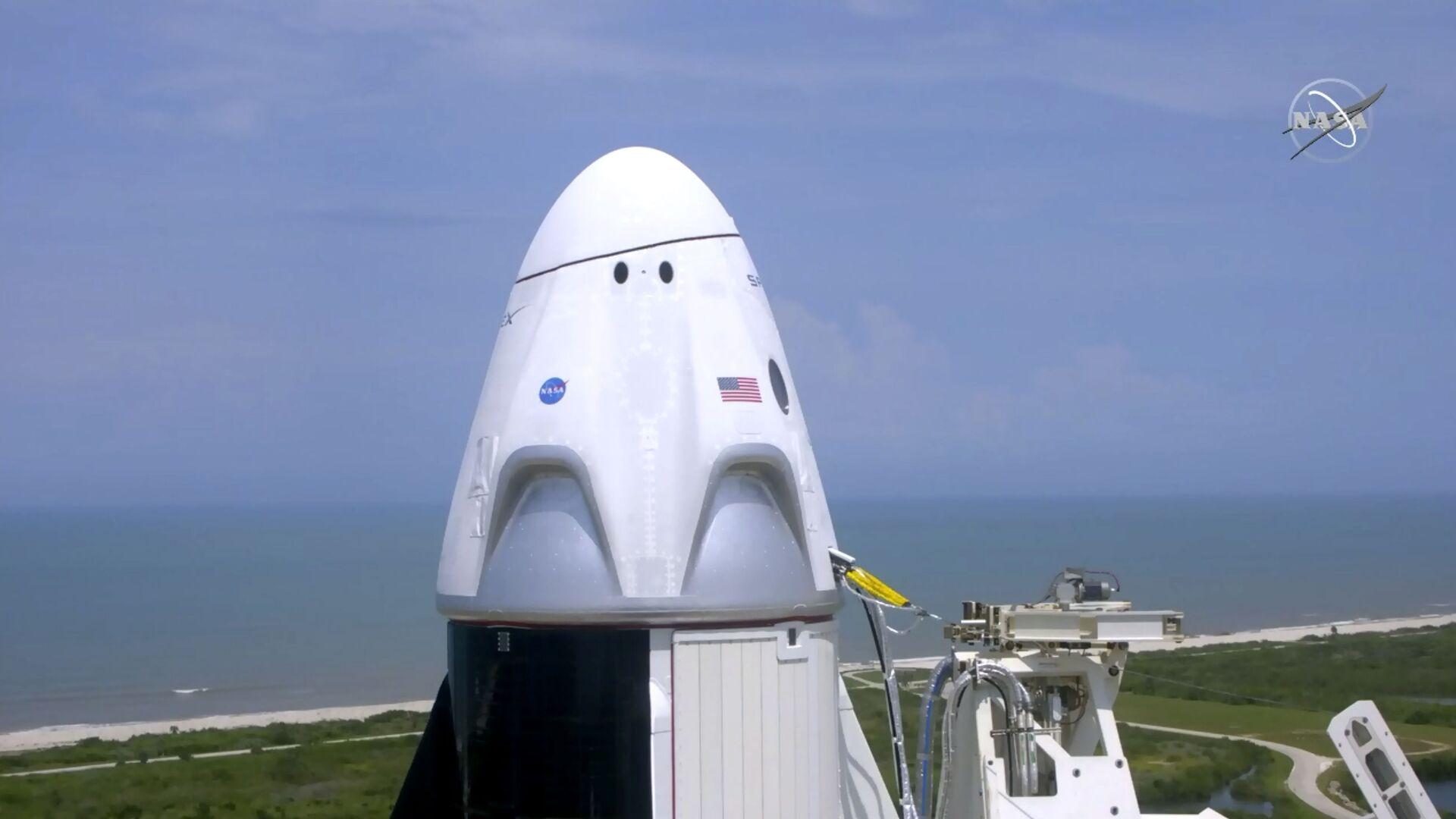 Корабль Crew Dragon, созданный компанией SpaceX Илона Маска - Sputnik Армения, 1920, 19.09.2021