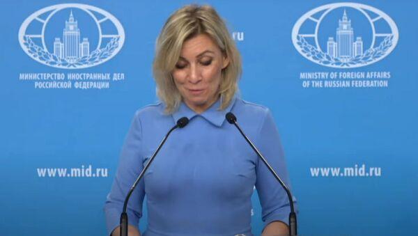 Захарова смутилась во время чтения личного вопроса из Армении на онлайн брифинге - Sputnik Արմենիա