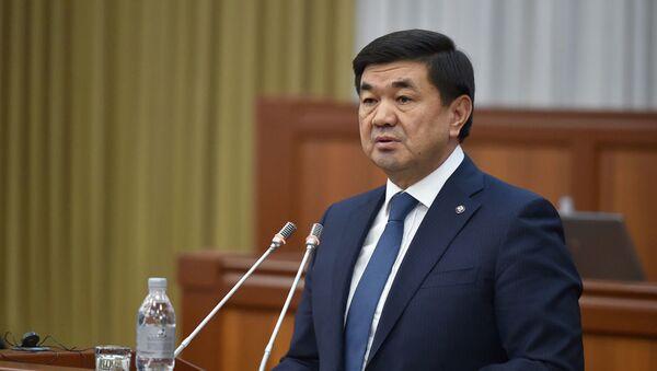 Премьер-министр Кыргызстана Мухаммедкалый Абылгазиев - Sputnik Армения