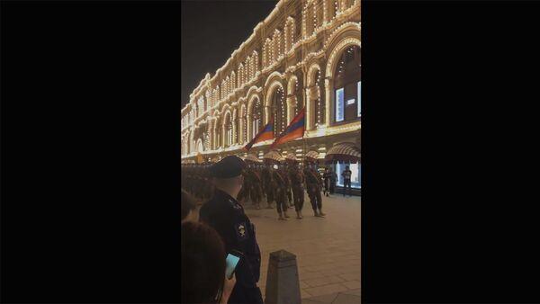 Армянская военные на репетиции Парада Победы в Москве - Sputnik Արմենիա