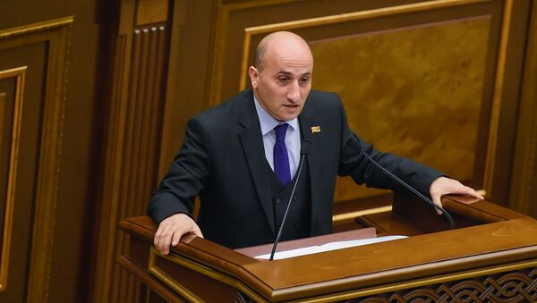 Депутат фракции Мой шаг Ваагн Овакимян в Парламенте - Sputnik Արմենիա
