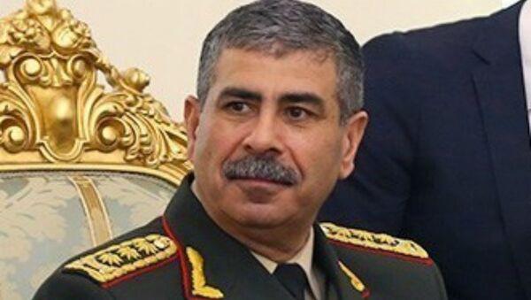 Министр обороны Азербайджана Закир Гасанов - Sputnik Արմենիա
