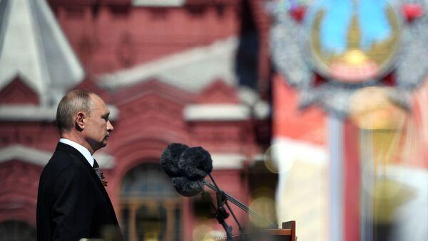 Президент РФ В. Путин принял участие в военном параде в ознаменование 75-летия Победы в Великой Отечественной войне - Sputnik Արմենիա