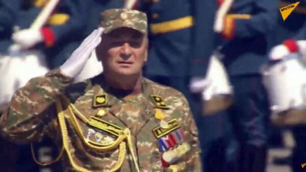 Армянская стрелковая дивизия на параде Победы, командующий - полковник Ашот Акопян - Sputnik Արմենիա