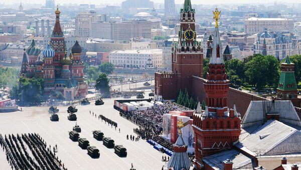 Военный парад в ознаменование 75-летия Победы на Красной площади - Sputnik Армения