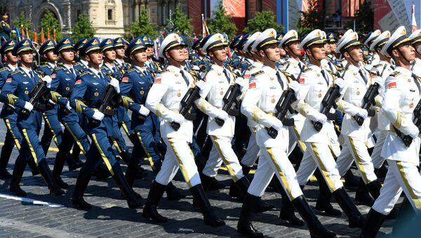 Парадный расчет армии КНР во время военного парада Победы в Москве - Sputnik Армения