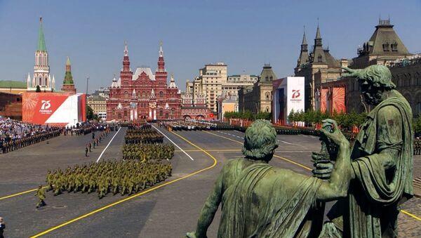 Военнослужащие стран бывшего СССР на параде Победы в Москве - Sputnik Արմենիա