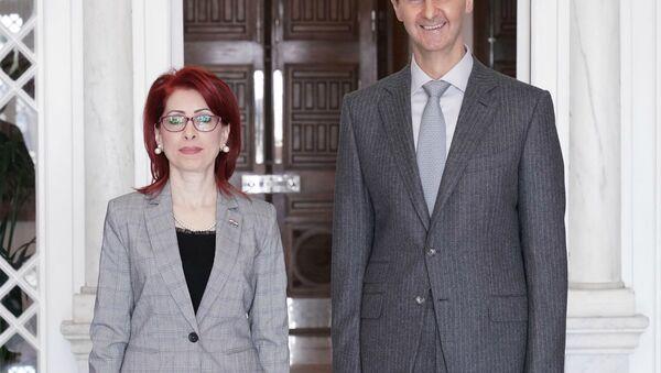 Президент Сирии Башар Асад и Нора Арисьян (31 декабря 2018). - Sputnik Армения
