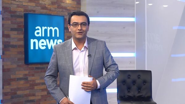 Кадр из вечернего выпуска новостей телеканала ArmNews - Sputnik Արմենիա