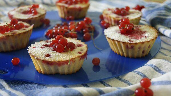Кексы с красной смородиной - Sputnik Արմենիա
