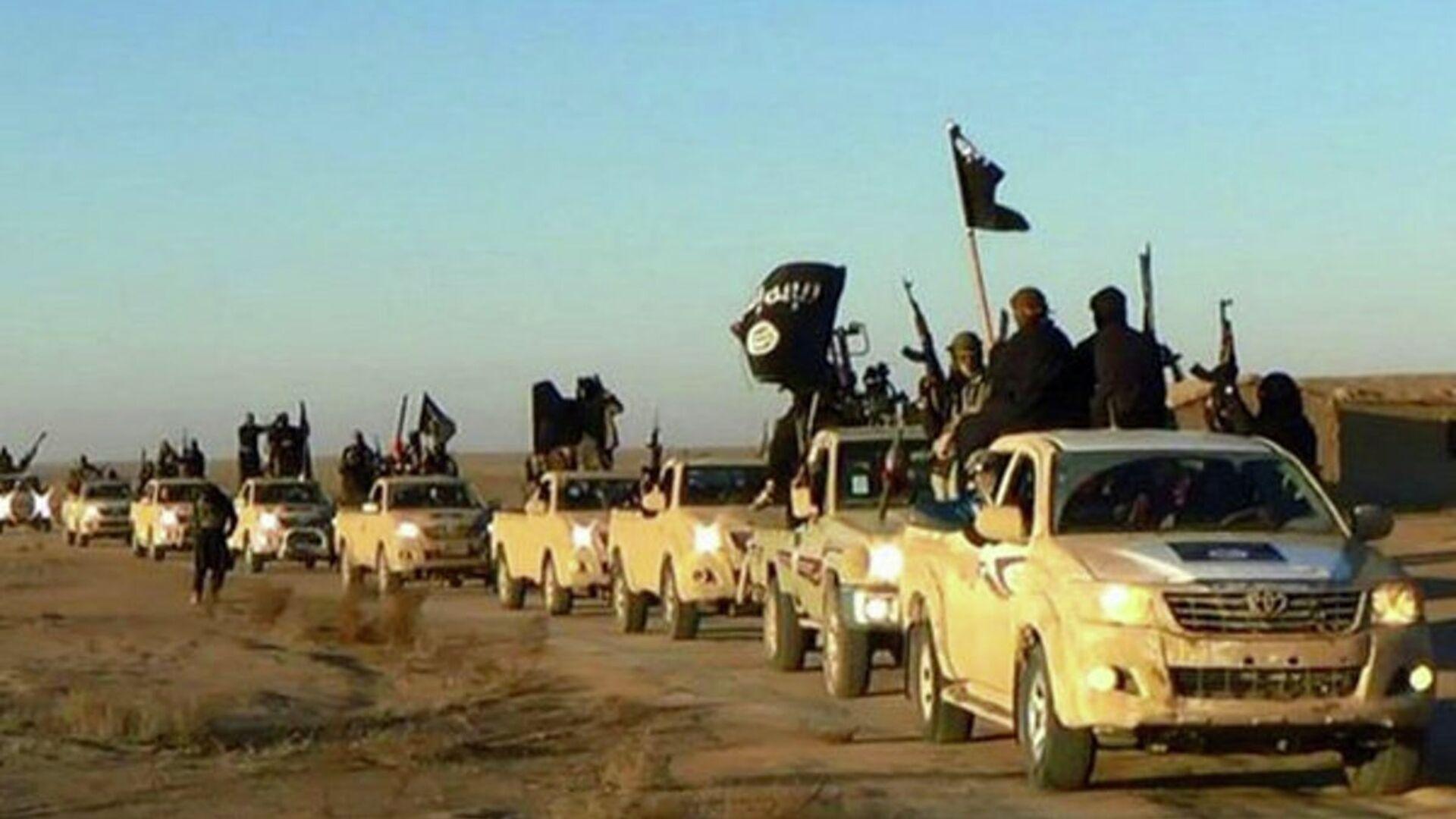 Колонна автомобилей с боевиками Исламского государства на пути из Сирии в Ирак. Архивное фото - Sputnik Армения, 1920, 27.09.2021