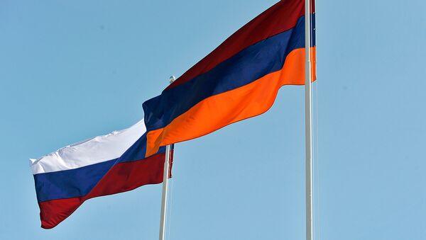 Флаги Армении и России - Sputnik Армения