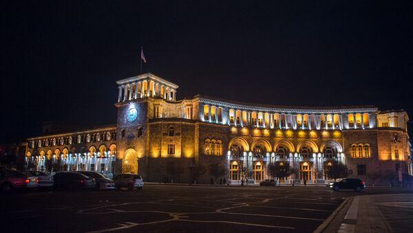 Площадь Республики вечером. Ереван - Sputnik Армения