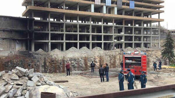 Пожар в здании гостиницы Двин - Sputnik Արմենիա