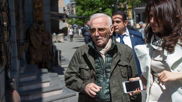 Шарль Азнавур в Ереване  - Sputnik Արմենիա
